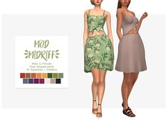 "nolan-sims: "" Nolan Sims here. After being away for a long while on the CC-front, here is a sweet little number to celebrate the warmer weather! Inspired by this dress from @modcloth, it'll make any..."
