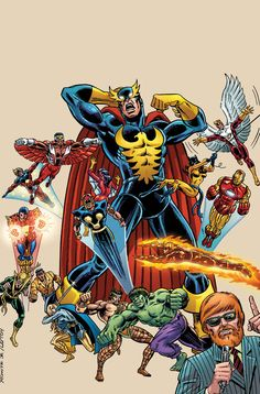 """The Defenders' existence was revealed to the world in an unauthorized television documentary by Valkyrie's friend, filmmaker/television producer Dollar Bill. As a result, a horde of well-meaning super heroes arrived and declared themselves Defenders (while others, such as Captain Mar-Vell, Ms. Marvel (Carol Danvers) and Paladin, decided against Defenders affiliation); but all of these """"Defenders for a Day"""" decided to quit after a single harrowing day in action with the team."""