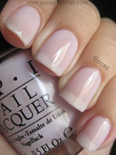 Simple Nails. Care to Danse by OPI Nail Lacquer (light purple jelly)