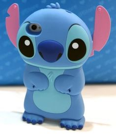 Blue color 3D Soft Silicone Stich Cartoon Cover Case for Apple iPhone 4 4S 5 5S