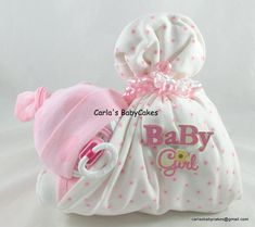 Stork Bundle Baby | Sleeping diaper baby | Baby Diaper Cake | Baby Shower Gift…