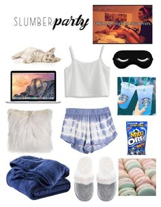 """""""Slumber Party~"""" by babylaci ❤ liked on Polyvore featuring WALL, Circo, Chicwish, Victoria's Secret, Microsoft, Pink Mint and slumberparty"""