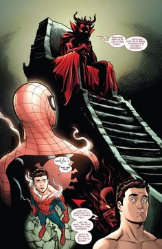 When Spider-Man made a deal with Mephisto to get his secret identity back From Spider-Man One More Day Goku, Spiderman, Amazing Fantasy 15, Comic Art, Comic Books, Steve Ditko, Young Avengers, Occult Art, One More Day