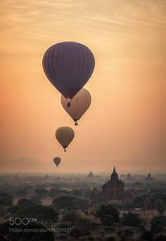"""Bagan in misty morning Myanmar Go to http://iBoatCity.com and use code PINTEREST for free shipping on your first order! (Lower 48 USA Only). Sign up for our email newsletter to get your free guide: """"Boat Buyer's Guide for Beginners."""""""