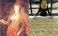Elizabeth I, The Rainbow Portait, c. 1600 and the skirt whcih can now be viewed at Hampton Court
