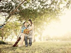 playful engagement under a summer tree with a guitar Summer Trees, Guitar, Engagement, Couple Photos, Couples, Photography, Couple Shots, Photograph, Fotografie