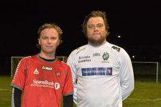 Nådde ikke opp: Andreas Eriksen (til venstre) scoret Rygges siste mål, men det var tidligere Rygge-spiller Ole Morten Unum og Tistedalen som tok alle poengene, mye takket være Unums to tidlige scoringer.