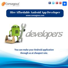 Consagous Technologies have a proven track record of producing exceptional Android apps for clients across the sphere. Hire Android app developers on Extract.co, which clearly depicts our expertise, talent and effectiveness.