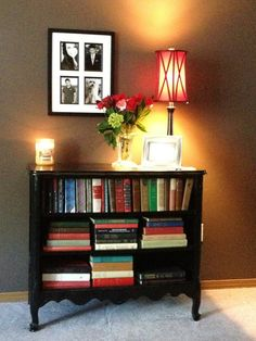 Refurbished dresser from the  curb...fill with baskets OR your book collection.  :)