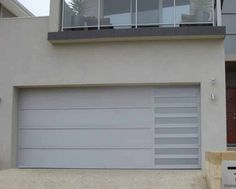 Architectural Series - Sidelight Anotec silver grey with Platinum slots Sectional Garage Doors, Custom Design, Architecture, Grey, Outdoor Decor, Modern, Silver, Home Decor, Arquitetura