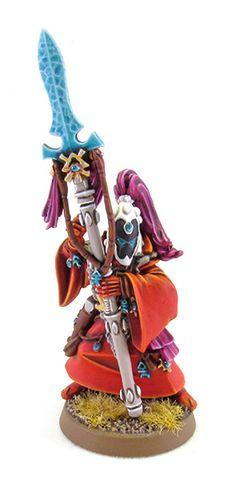 Tale of Painters: Showcase: Eldar Warlock (unofficial model)