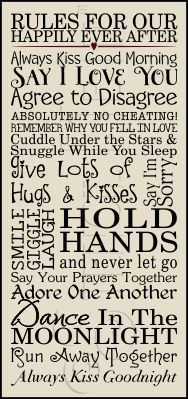 Rules For Our Happily Ever After need one for my place.