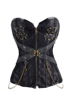 6ae94d70a3 Glamorous Jacquard 12 Steel Boned Corsets Lace Up Back