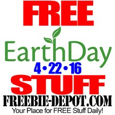 ►► FREE Earth Day Stuff 2016 - April 22 - Earth Day Freebies ►► #April22, #EarthDay, #Free, #FREEStuff, #Freebie ►►