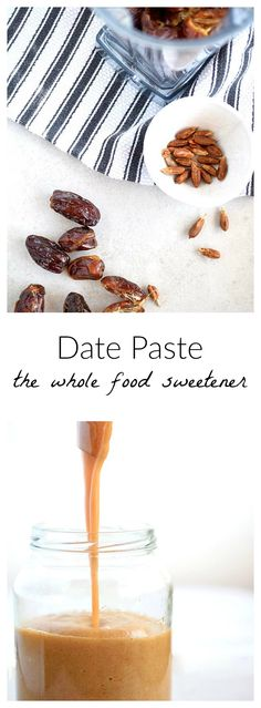 Date Paste - The Whole Food Sweetener | the easiest, cheapest, healthiest sweetener to use. Only 2 ingredients: dates and water! SO SIMPLE! | simplytothrive.com