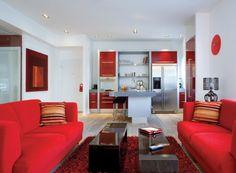 Red Theme Living Room Home Decor