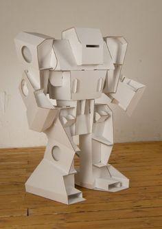 cardboard robot design cool modabots build it yourself paper robots of cardboard robot design Paper Robot, Cardboard Robot, Cardboard Design, Cardboard Sculpture, Paper Toys, Paper Sculptures, Cardboard Paper, Sculpture Lessons, Sculpture Projects