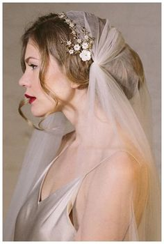 Astrid wedding hair vine bridal comb - styled with a Juliet cap veil and a low bun Veil Hairstyles, Wedding Hairstyles, Quinceanera Hairstyles, Updo Hairstyle, Juliet Cap Veil, Enchanted Bridal, Bridal Hair Vine, Bridal Comb, Vintage Bridal Hair