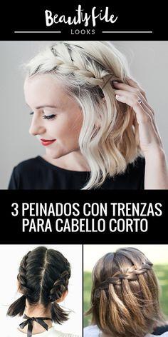 Mira los peinados con trenzas ideales para las melenas más reducidas. Movie Posters, Trending Hairstyles, Types Of Hairstyles, Plaits Hairstyles, Braided Hairstyles, Braids For Short Hair, Hair Care, Hair And Beauty, Film Poster