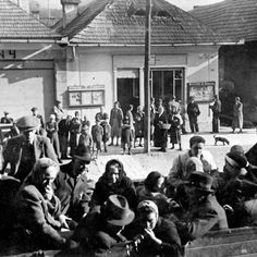 July 23, 1942, deportation of Jews from Dobsina, Slovakia, to Auschwitz. In total, about 100,000 Slovak Jews (including those who fled before the war) were murdered in the Holocaust. Approximately 25-35,000 survived, including 4,000-5,000 who hid with the partisans or in cities and towns. After the war, most Slovak Jews immigrated to Israel.