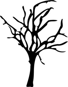 Silhouette graphics of Halloween small dead tree. Black and white image of Halloween tree. Halloween Silhouettes, Halloween Poster, Halloween Trees, Halloween Images, Halloween Carnival, Halloween Diy, Silhouette Clip Art, Tree Silhouette, Tree Stencil