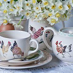 Rosie's Hens Burleigh Pottery