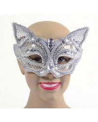 Silver Cat Sequin Glasses Style