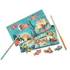Djeco - Magnetic Fishing Game - Sharks