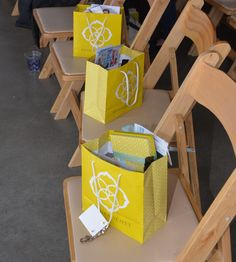 """Our adorable gift bags! Keep your eye out for our blog post """"What's in our gift bags"""" coming soon"""