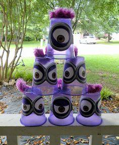 Idea para diversión en una fiesta de cumpleaños Minions.