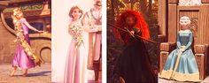 costume transformations: Rapunzel and Merida