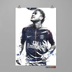 Neymar Jr. art print #0144 Only pay 1 shipping charge no matter how many prints you buy! QUALITY : -Uses Epson Ultra Chrome ink-jet technology. -Professionally Printed on Premium Archival Matte Photo Paper 260 gsm. -Print Only-Frames not included. PACKAGING : -Prints will be shipped in a