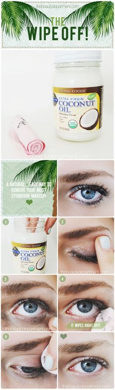 If you don't have makeup remover, just use coconut oil.