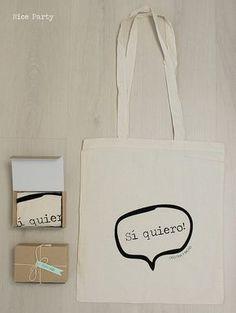 Bolsas de tela para tus invitados (te agradeceran cada que vayan de compras :)