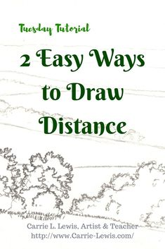 Color Pencil Drawing Tutorial 2 Easy Ways to Draw Distance - Two very simple ways to draw distance and create pictorial depth in even the most basic landscape drawings (or in any drawing). Drawing Skills, Drawing Lessons, Drawing Techniques, Drawing Tips, Drawing Ideas, Basic Drawing, Learn Drawing, Drawing Drawing, Woman Drawing