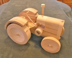 Vintage Wooden Scale Model Farm Tractor MCCORMICK by PadresPlace
