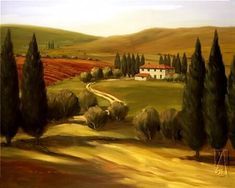 Through the Hills of Tuscany Painting - want for house!!