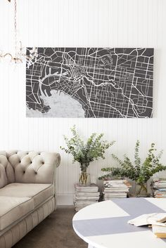 street map wall art
