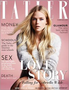 Cover with Gabriella Wilde February 2014 of GB based magazine Tatler UK from Cond� Nast Publications including details. (ID:25927)