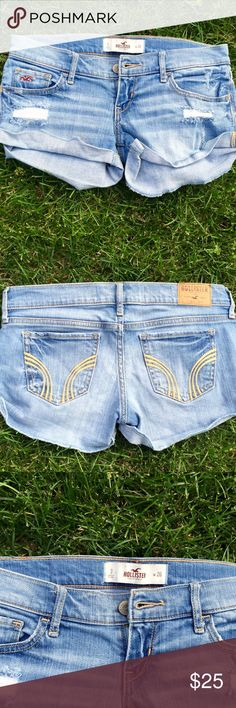 Light Wash Hollister Shorts Very lightly used, in like new condition. Hollister Shorts Jean Shorts