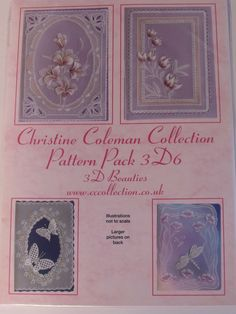 PATTERN 3D6 PACK - 3D BEAUTIES BY CHRISTINE COLEMAN      3D Beauties pattern pack.