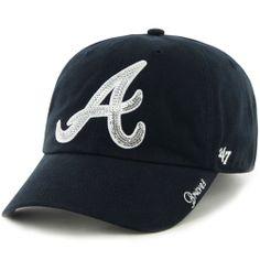 811c8192c5ea0 Atlanta Braves Women s Sparkle Clean Up Adjustable Cap by  47 Brand - MLB .com
