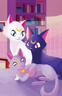 Sailor Moon / Luna, Artemis and Diana