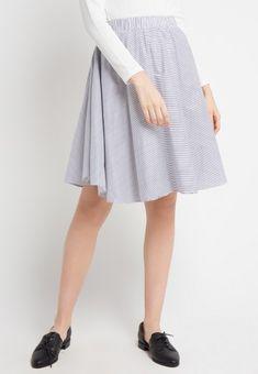 Mineola Stripe Skirt White