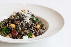 Wild Rice Salad - Swiss chard, grapes, feta, toasted hazelnuts #Vegetarian #GlutenFree #Toronto #Restaurant #Food
