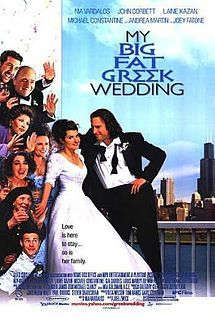 "Nia Vardalos is Grecian-American and 30, and as such, her parents want her to get married. They own a restaurant (Greek). She finds someone (not Greek: John Corbett). Written by Vardalos. Directed by Joel Zwick (""Elvis Has Left the Building""). Produced by actors Tom Hanks and wife Rita Wilson (she was seen in ""Auto Focus"")."