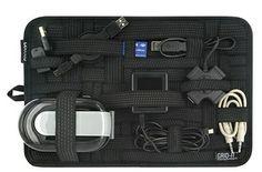 Organizer for laptop accessories.