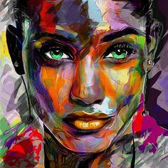 Art digital portrait, portrait art, portraits, abstract portrait, a Abstract Portrait Painting, Abstract Wall Art, Portrait Art, Digital Portrait, Tableau Pop Art, Frida Art, Watercolor Canvas, Arte Pop, Face Art