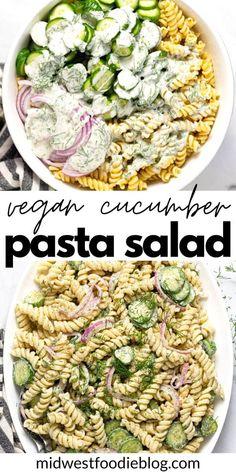 Vegan Dinner Recipes, Whole Food Recipes, Vegetarian Recipes, Cooking Recipes, Healthy Recipes, Vegetarian Pasta Salad, Healthy Pasta Salad, Easy Vegan Dinner, Grilling Recipes