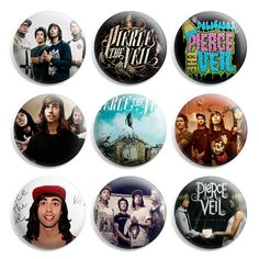 Pierce The Veil Pinback Button Pin Badge (Pack of 9)- 1 inch